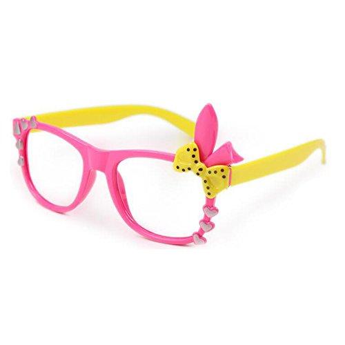 Juleya Kinder Bunny Herz Bogen Gläser Rahmen - Kinder Brillen Geek/Nerd Retro Reading Eyewear Keine...