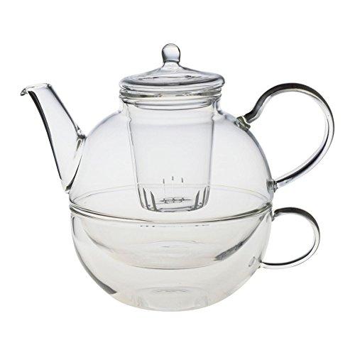 Théière/tasse/filtre en verre - - pour - une personne - 550 ml (théière)