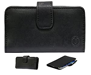 Jo Jo A8 Nillofer Leather Carry Case Cover Pouch Wallet Case For Byond B54 Black