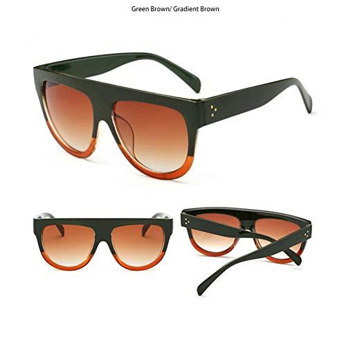 CCGKWW Marke Desinger Vintage Sonnenbrille Mode Frauen/Männer Sonnenbrille Große Full Frame Brillen Verlaufsglas Gafas