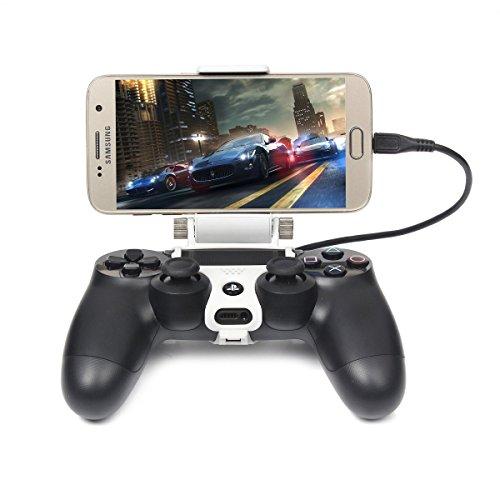 megadream [2. Generation] PS4Controller Phone Clip Halterung für Sony Playstation 4PS4Pro Slim, 180Grad Verstellbare Halterung Ständer Android Samsung Galaxy S8S8+ S7Edge S7S6Note 86maximalen 20,1cm