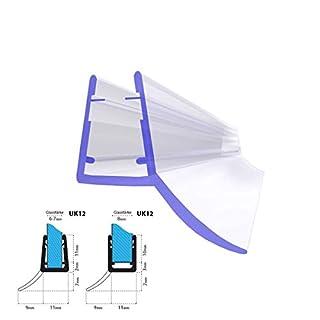 STEIGNER Duschdichtung, 200cm, Glasstärke 6/ 7/ 8 mm, Gerade PVC Ersatzdichtung für Dusche, UK12
