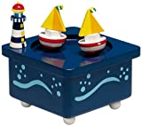 Spieluhrenwelt 43729 - Scatola musicale con figure di barche a vela