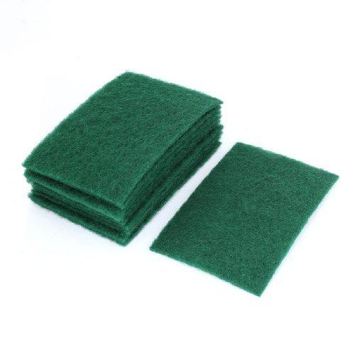 Rectangle en forme de nettoyage Tampons Scourers 10 Pcs vert