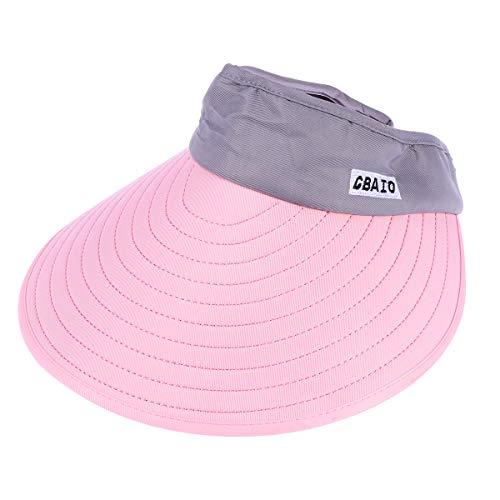 Hip Kostüm Hop Tänzer - BESPORTBLE Sport Tennis Cap Sommer Outdoor Cap Folding Hut Allgleiches Cap für Damen Herren (Pink und Grau)