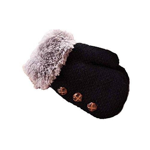Loveble Unisex Mädchen Jungen Winter Handschuhe Lanyard Doppel Verdickung FingeRot Handschuhe wärmer Fäustlinge Weihnachtsgeschenk (0-4 Jahre) (Stricken Handschuhe Magie)