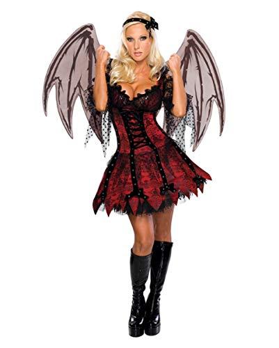 Horror-Shop Sexy Vampir Fee Kostüm für Halloween & Fasching M / 38