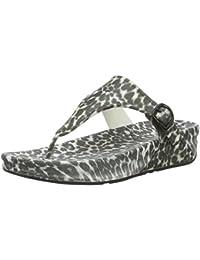 FitFlop Damen Superjelly Leopard Sandalen, Braun