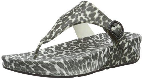 Superjelly Leopard, Scarpe Spuntate Donna, Multicolore (Black/White), 37 EU FitFlop