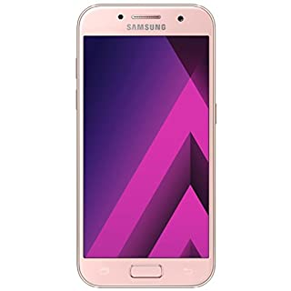 Samsung Galaxy A3 (2017) Smartphone (12,04 cm (4,7 Zoll) Touch-Display, 16 GB Speicher, Android 6.0) peach-cloud