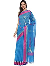 CLASSICATE From the house of Classicate From The House Of The Chennai Silks - Silk Cotton Saree - Blue - (CCMYSC9350)