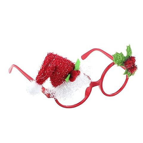 Tinksky Weihnachts-Party-Gläser Lustige Sankt-Hut-Sonnenbrille Fanci-Rahmen-Neuheit-Glas-Weihnachtskostüm-Verzierungen