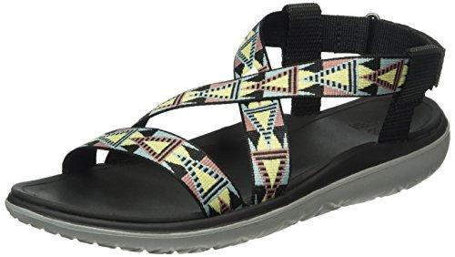 Teva Damen W Terra-Float Livia Sandals, Schwarz (Mosaic Black/Multi Mbmtmosaic Black/Multi Mbmt), 41 EU