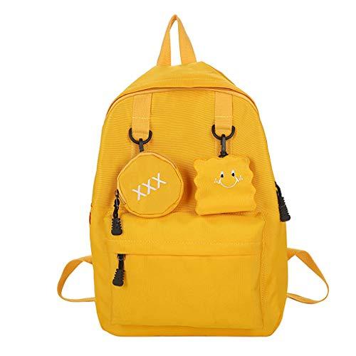 ZEELIY Rucksack Für Schule, Mode Frauen Nylon einfarbig kapazität Student Rucksack Reise Paar tascheCanvas Rucksack Schulrucksack Wanderrucksack Reisetasche