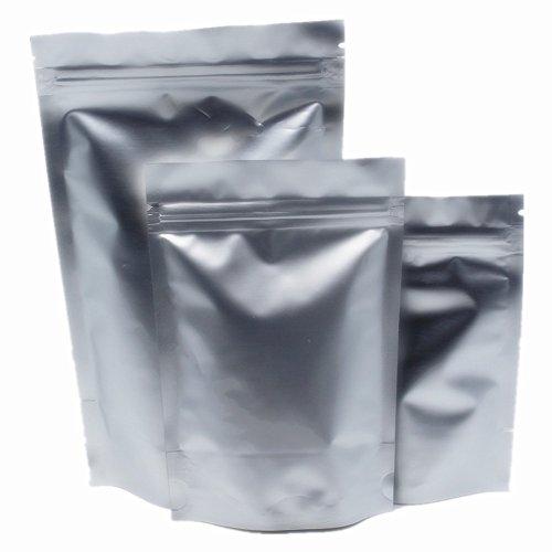 Folie Kostüm Aluminium - 17x24cm 30 Stück Mylar Stehen Pure Aluminium Folie Verpackung Tasche für Lebensmittel Kaffee Nüsse Zucker Lagerung wiederverschließbare Zip Lock Bag Alufolie Heißsiegel Reißverschluss Beutel
