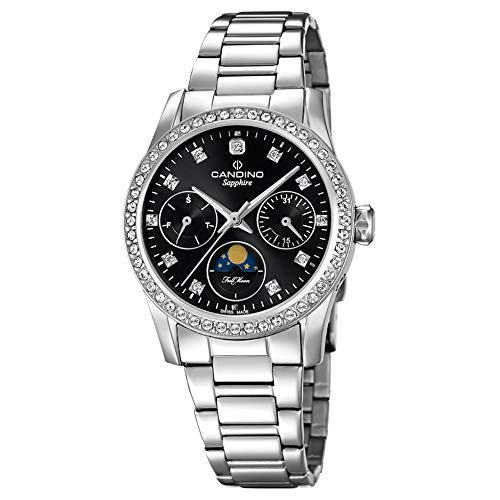 Candino Reloj analógico para Mujer c4686/2Acero Inoxidable Reloj de Pulsera Fashion Plata uc4686/2