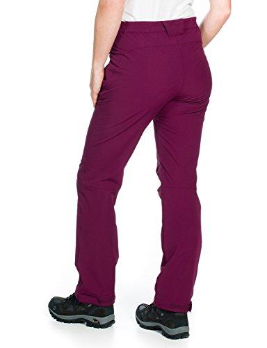 Jack wolfskin activate pantalon softshell pour femme Rouge - Fushia