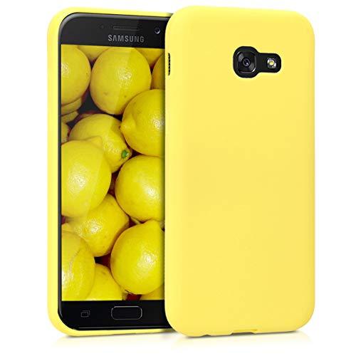 kwmobile Funda para Samsung Galaxy A5 (2017) - Carcasa para móvil en [TPU Silicona] - Protector [Trasero] en [Amarillo Pastel Mate]