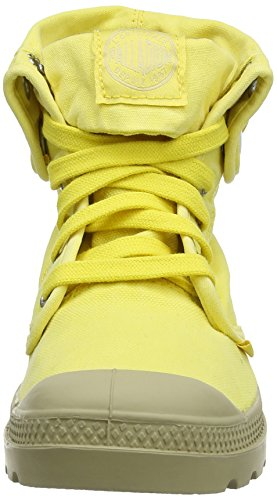 Palladium , Baskets mode femme Jaune (Lemon Yellow/Putty)