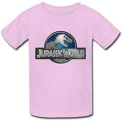 Sixtion AI Big Boys' Jurassic World 2015 Movie Logo T Shirt For Kids Black Small