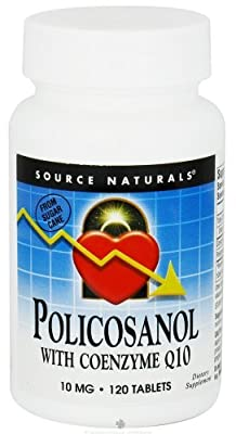 Source Naturals, Policosanol, with Coenzyme Q10, 10 mg, 120 Tablets from Source Naturals