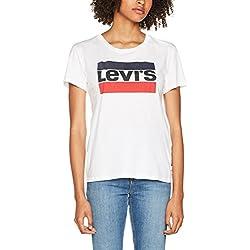 Levi's The Perfect camiseta sin mangas para Mujer - Blanco (White 297) - XL
