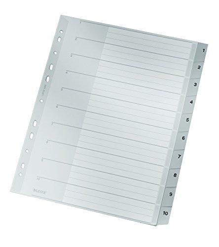 Preisvergleich Produktbild Plastik-Register 1-10 A4 1280