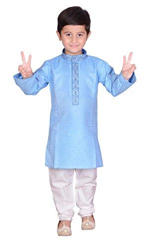 Jungen indischen Sherwani Kurta Churidar Kameez für Bollywood Thema & Kostüm Party Geschäften London 890 Gr. ( 1 Jahre ), hellblau (Indischen Themen Party Kostüme)