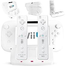 G-HUB® - Nintendo Wii / Wii U Dual Charging Dock (Doble Base de Carga en BLANCO) - Cargos: 2x Wii Remote (WiiMote) Controladores y 1x WiiU GamePad Controlador estándar