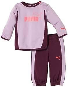 Puma ESS Infant Crew Jogger Baby's Tracksuit Purple Lavendula Size:6-12 months