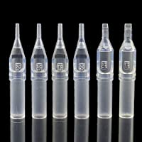 Disposable Tattoo Tips - Yuelong 100pcs 9F Disposable Clear Tattoo Tips Tubes 9 Magnum Tips/ 9 Flat Tips for Tattoo Needles Sterilize Tips Tattoo Supplies (9MF)