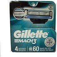 Gillette Mach3 Men's Razor Blade Refills, 4 C