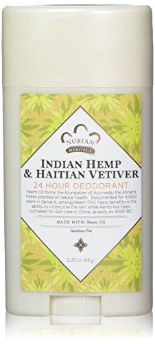 NUBIAN HERITAGE Indian Hemp/Haitian Vetiver 24 Hour Deodorant