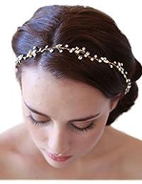 gracewedding Fashion–Diadema con tocado para mujer y girls-bridal