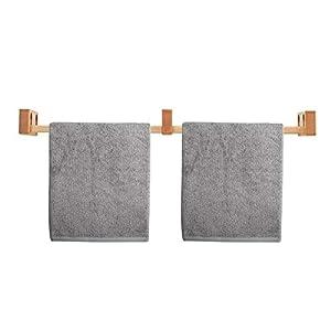 LEONNAGAR – Toallero de madera para montar en la pared, sin necesidad de taladrar, ideal como soporte para toalla de té…