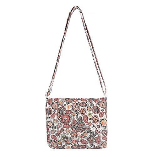Ital-Design, Borsa a spalla donna Rosso/Multicolore