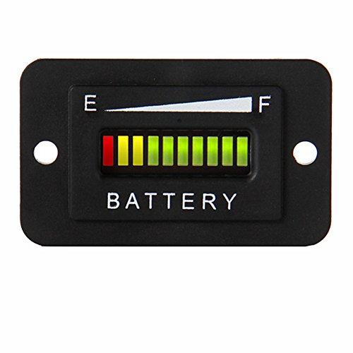 terieanzeige Batterie Tester Für Bodenpflege Ausrüstung Motorrad Marine Golf Carts (Golf-cart-beleuchtung)