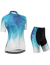 (Cojín 3D)(traje tamaño:L) maillot Moda chaleco corta sudo ciclismo transpirable rompevientos mujer rendimiento los ropa de manga Jerseys para