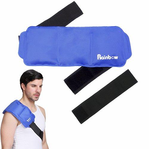 Kälte-therapie Pad (kühlkissen gel kühlpads Schulter Eispack für Rücken, Nacken, Knie, wiederverwendbares, großes Kälte- oder Heißpack für Verletzungen 15