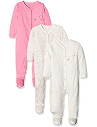 Mothercare Baby Girls' Regular Fit Sleepsuit (Pack of 3)
