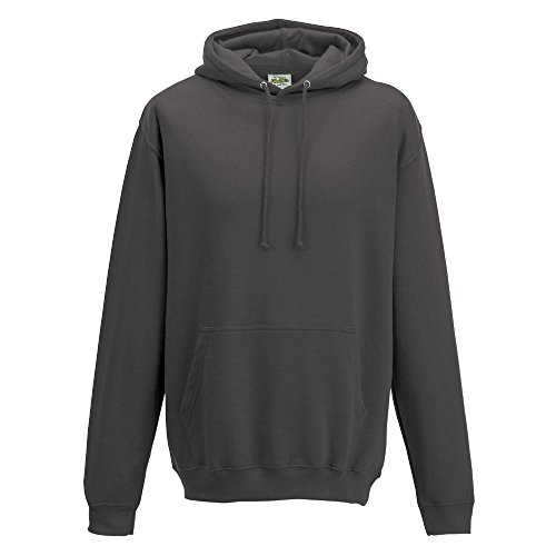 Just Hoods College Hoodie Charcoal