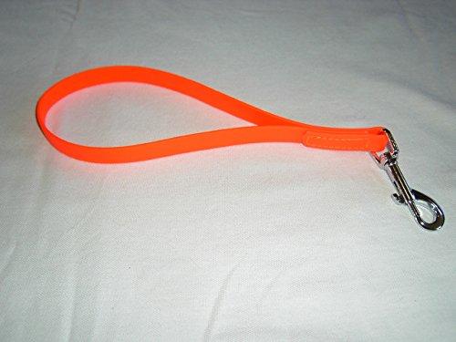 MJH super Heavy Biothane Kurzführer 25cm lang, 16mm breit, vernäht, verschiedene Farben (orange)
