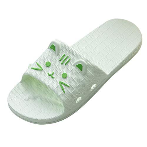 ✿✿Eaylis Damen Sandalen Reine Farbe Nach Hause SüßE Katze Katze Paar Pantoffeln Sommer Strand Schuhe Hausschuhe Stilvoll Und Elegant