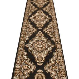 Carpet Runners UK turkesh schwarz–Hall, Treppe Teppich Läufer (erhältlich in jede Länge bis 30m) (Schwarz Ft 9 Läufer L)