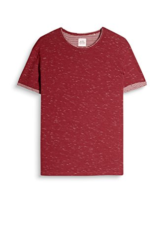 edc by ESPRIT Herren T-Shirt Rot (Bordeaux Red 600)