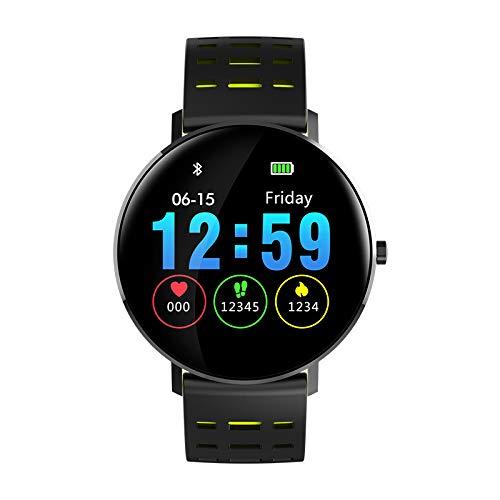 Fitnessarmband Fitnessuhr Männer Damen Smartwatch mit Blutdruckmessung Kinderuhr Sportuhren Schrittzähler,Green