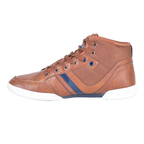 Lee Cooper Men's Brown Sneakers - 9 UK/India (43 EU)(LC3516)