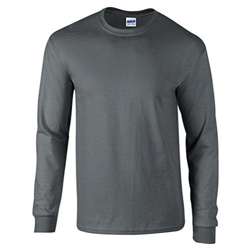 Gildan Herren T-Shirt Schwarz - Dunkelgrau
