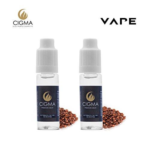 CIGMA 2 X 10ml E Liquid, Kaffee, Neue Premium Qualitätsformel nur mit wertvollen Zutaten, Hergestellt für Elektronische Zigaretten und E Shishas