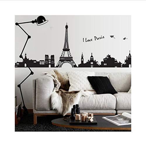ur Eiffelturm Wandaufkleber Wohnzimmer Schlafzimmer Wand Dekor Wandbild Aufkleber Torre Eiffel ()